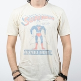 Graphics Superman Rubber Toy Vintage Tee - Cream