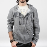 Graphics Tees New York City Hoodie - Marled Gray