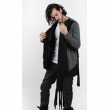 Graphics Tees The Owens Look Asymetrical Cotton Cardigan Jacket - Gray