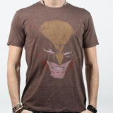 Graphics Wolverine Head Vintage Tee - Dark Chocolate