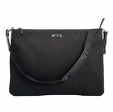 Gucci Canvas and Leather Trim Messenger Bag - Black
