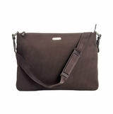 Gucci Canvas and Leather Trim Messenger Bag - Brown