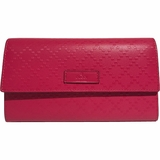 Gucci Diamante Leather Wallet - Pink