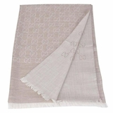 Gucci GG Monogram Wool and Silk Shawl - Beige