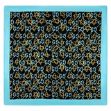 Gucci Ghost Print Modal Silk Shawl - Blue