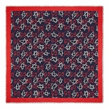 Gucci Ghost Print Modal Silk Shawl - Red