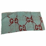 Gucci Ghost Shawl - Blue/Red