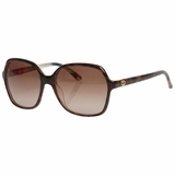 Gucci Sunglasses Havana Lens Brown Gradient - Flora Brown