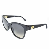 Gucci Women Oversized Sunglasses Lens Gray Gradient - Shiny Black