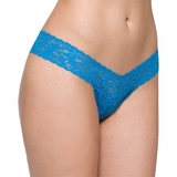 Hanky Panky Lace Low Rise Thong Bali - Blue