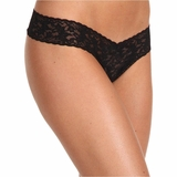 Hanky Panky Lace Low Rise Thong - Black