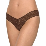 Hanky Panky Lace Low Rise Thong - Brown