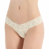 Hanky Panky Lace Low Rise Thong Buttercream - Cream