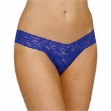 Hanky Panky Lace Low Rise Thong - Dark Blue