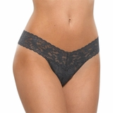 Hanky Panky Lace Low Rise Thong - Granite