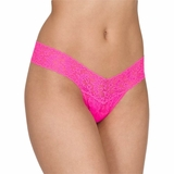 Hanky Panky Lace Low Rise Thong Tropical Punch - Pink