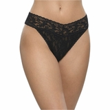 Hanky Panky Lace Original Rise Thong - Black