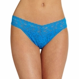 Hanky Panky Lace Original Rise Thong - Blue