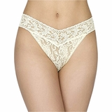 Hanky Panky Lace Original Rise Thong - ButterCream