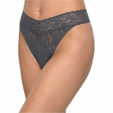 Hanky Panky Lace Original Rise Thong - Granite