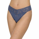 Hanky Panky Lace Original Rise Thong Nightshadow - Blue