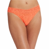 Hanky Panky Lace Original Rise Thong - Orange