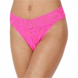 Hanky Panky Lace Original Rise Thong Passionate - Pink