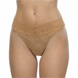 Hanky Panky Lace Original Rise Thong Suntan - Brown