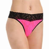 Hanky Panky Lace Original Rise Thong Tropical - Pink