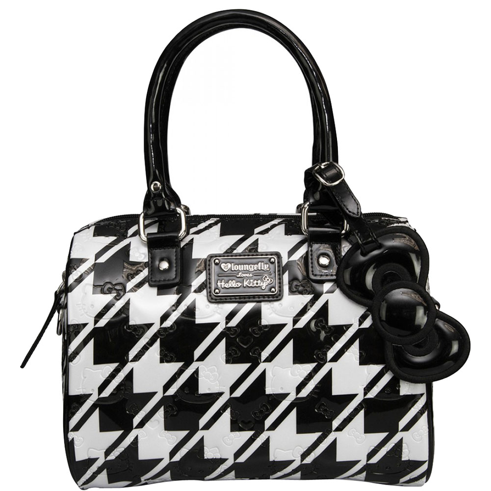 38bd7dc8cdf7 Hello Kitty Houndstooth Embossed Mini City Bag - White Shiny