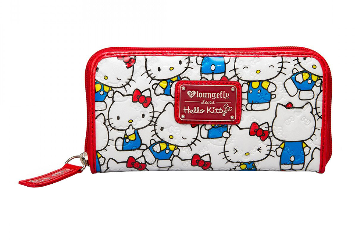Hello Kitty Vintage Print Patent Embossed Wallet - White Red aee017214ca31