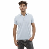 Heritage Light Blue Cotton Polo Shirt