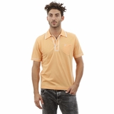 Heritage Light Orange White Trim Cotton Polo Shirt