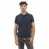 Heritage Navy Blue Cotton Polo Shirt