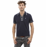 Heritage Navy Blue White Trim Cotton Polo Shirt