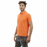 Heritage Orange Cotton Polo Shirt