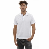 Heritage White Blue Collar Detail Cotton Polo Shirt