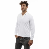 Heritage White Long Sleeve Cotton Polo Shirt