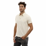 Heritage White Yellow Stripe Cotton Polo Shirt