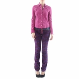 Iceberg Cotton Button Up Shirt Top - Puple
