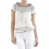 Isabella Rodriguez Cotton Top - White