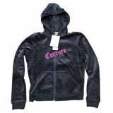 Juicy Couture Top Hat Track Jacket Hoodie - Gray