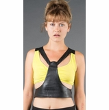 LA Collection Faux Leather Cut-Out Crop Top - Yellow
