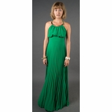 LA Collection Halter Dress with Neckplate - Green