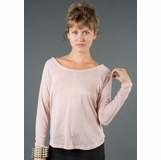 LA Collection Long Sleeve Twist Shirt - Pink