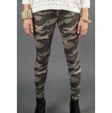 LA Collection Print Leggings - Camo