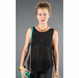 LA Collection Sleeveless Twist Back Shirt - Black