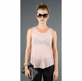 LA Collection Sleeveless Twist Back Shirt - Pink