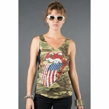 LA Collection Stars and Stripes Tank Top T-shirts - Camo