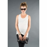 LA Collection Stud Pocket Tank - Cream